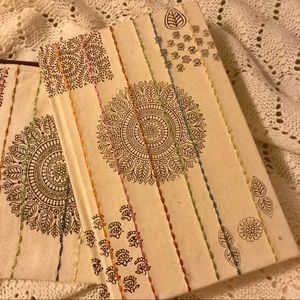 Handmade paper journal and pouch mandala India new